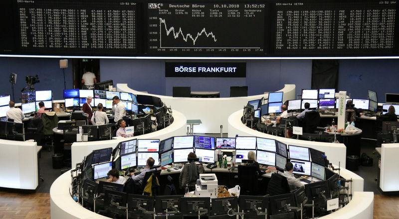 The German share price index DAX graph is pictured at the stock exchange in Frankfurt, Germany, October 10, 2018. REUTERS/Staff
