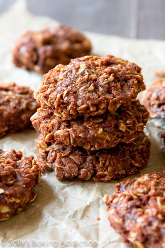 """<p>Make your own chocolate and peanut butter cookies in less than 15 minutes. The best part? This recipe requires zero backing! Chewy and sweet - make extra because your kids will love them! [<i>Image: Sally's Baking Addiction</i>]</p><p>Get the recipe from: <b><a href=""""http://sallysbakingaddiction.com/2015/12/10/chocolate-peanut-butter-no-bake-cookies/"""" rel=""""nofollow noopener"""" target=""""_blank"""" data-ylk=""""slk:Sally's Baking Addiction"""" class=""""link rapid-noclick-resp"""">Sally's Baking Addiction</a></b></p>"""