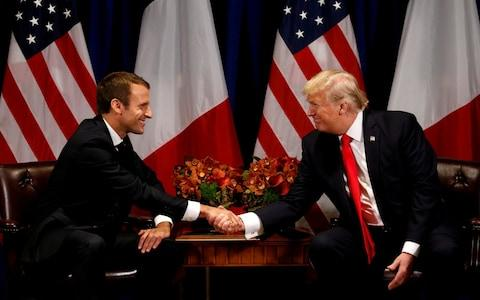 Emmanuel Macron has built a strong working relationship with Donald Trump after clashing with him before being elected French president - Credit: REUTERS/Kevin Lamarque