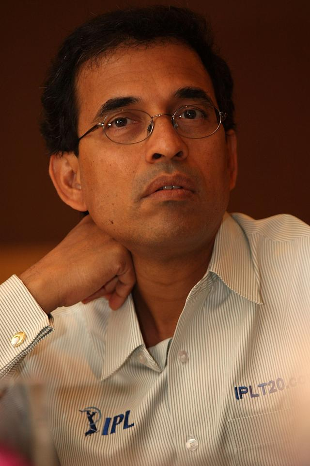 MUMBAI, INDIA - APRIL 21:  Cricket commentator Harsha Bhogle attends the IPL Jury Meeting at the Grand Hyatt on April 21, 2010 in Mumbai, India.  (Photo by Chirag Wakaskar-IPL 2010/IPL via Getty Images)