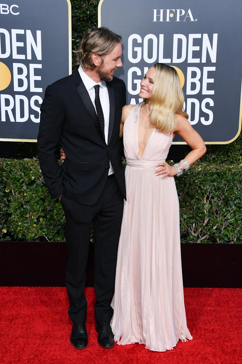 BEVERLY HILLS, CALIFORNIA - JANUARY 06: Dax Shepard and Kristen Bell attend the 76th Annual Golden Globe Awards held at The Beverly Hilton Hotel on January 06, 2019 in Beverly Hills, California. (Photo by George Pimentel/WireImage)
