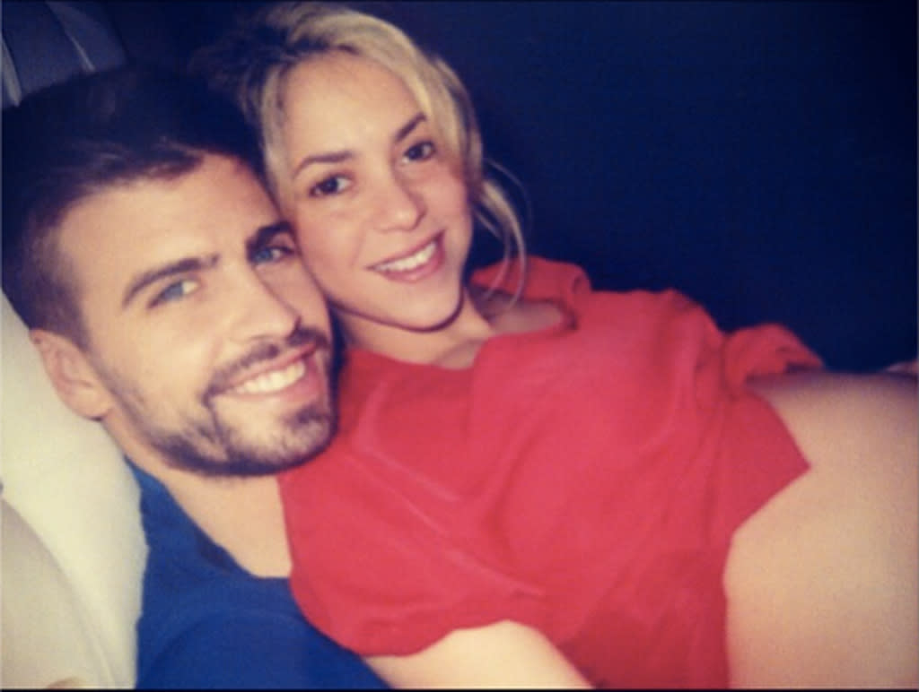 "Shakira loved being pregnant with her son Milan so much that she didn't want it to end! Last November, ""The Voice"" mentor posted a snapshot in which she was cuddling with beau Gerard Piqué with her red shirt pulled up. ""I could have another 9 months like this!"" she wrote. Well, she didn't have to. Milan arrived in January."