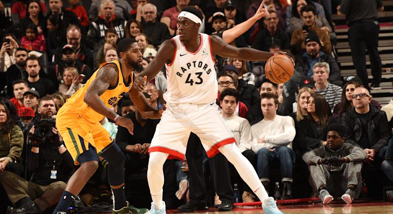 Everything seemed to go right for the Toronto Raptors in the first half of their clash with the Utah Jazz at Scotiabank Arena on Sunday night. (Photo by Ron Turenne/NBAE via Getty Images)