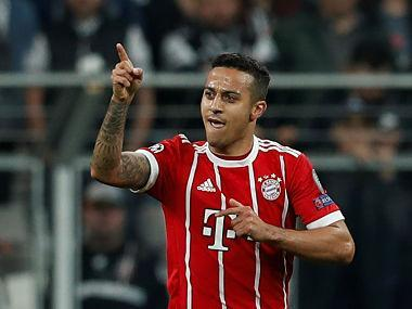 Thiago's injury dampened the celebrations ahead of tough Bundesliga games against RB Leipzig and Borussia Dortmund in the coming weeks.