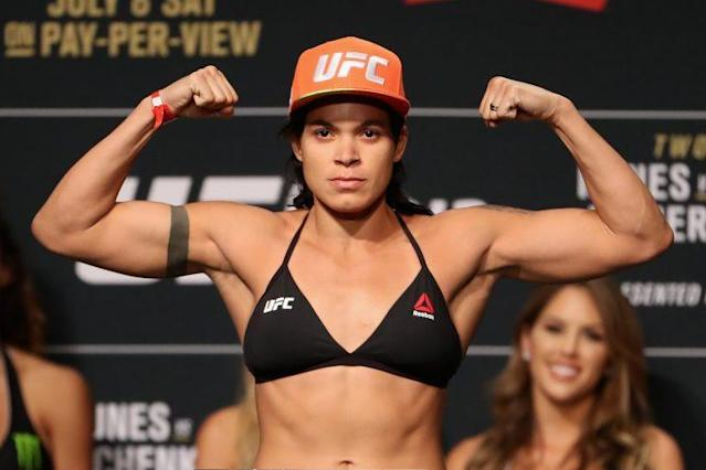 Amanda Nunes says she pulled out of UFC 213 because of chronic sinusitis. (Getty Images)