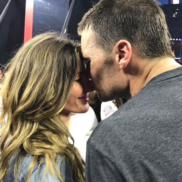 "<p>The supermodel was simply beaming after her hubby, Tom Brady, won his fifth Super Bowl. ""Wonderful things come to those who work hard with focus, tireless dedication and who never stop believing. Forever grateful for this moment,"" she wrote. ""Congratulations my love!!#neverstopbeliving #lovemovesmountains #dedication #family #thankyouGod."" (Photo: <a rel=""nofollow"" href=""https://www.instagram.com/p/BQLRA8wjXBg/?taken-by=gisele"">Instagram</a>) </p>"