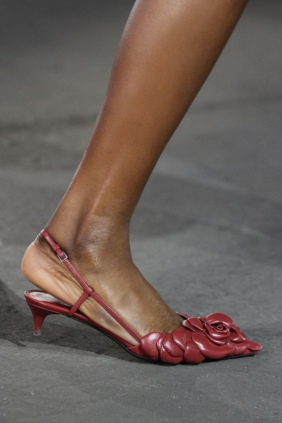 <p>And if you're not about the height and you want to keep your heel as tiny as possible? Presenting these baby kitten styles. </p><p><em>Valentino</em></p>