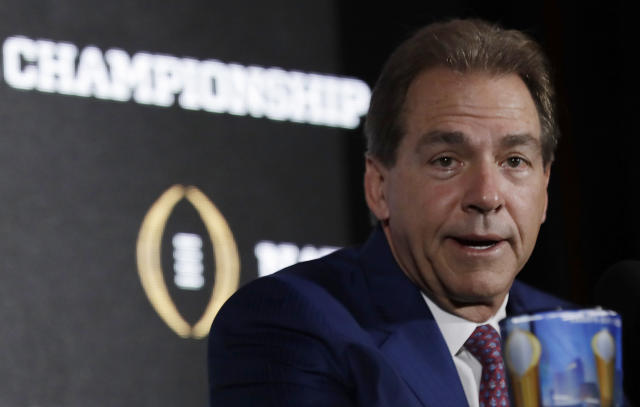Nick Saban and Alabama face a real test in their opener against Florida State. (Associated Press)