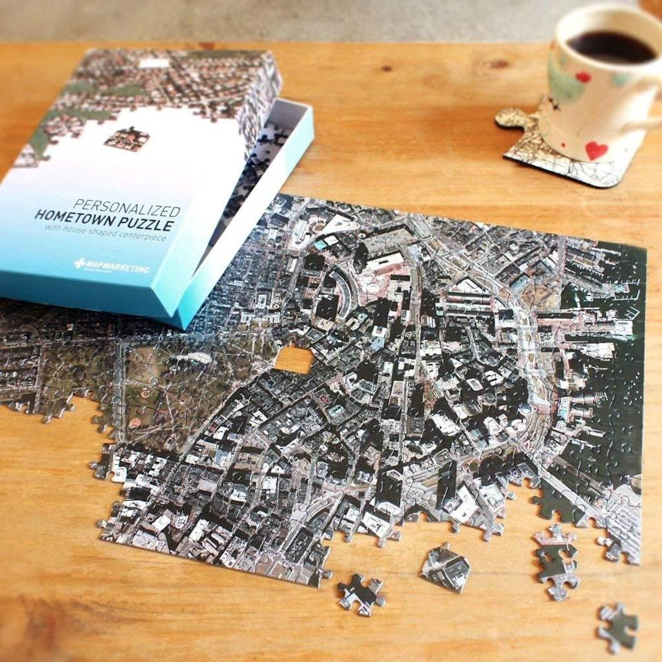<p>They will think you are so thoughtful for giving them this custom <span>Personalized 'My Hometown' Map Jigsaw Puzzle</span> ($60).</p>