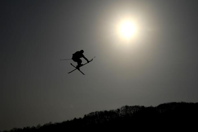 <p>Nick Goepper of the United States competes during the Freestyle Skiing Men's Ski Slopestyle qualification on day nine of the PyeongChang 2018 Winter Olympic Games at Phoenix Snow Park on February 18, 2018 in Pyeongchang-gun, South Korea. (Photo by Quinn Rooney/Getty Images) </p>