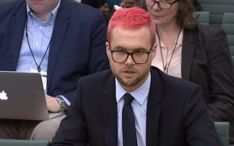 <span>Cambridge Analytica whistleblower Christopher Wylie gave evidence for the Digital, Culture, Media and Sport Committee report</span> <span>Credit: AFP </span>