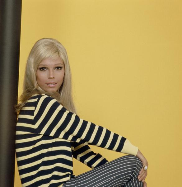 """<div class=""""caption-credit""""> Photo by: NBC/NBCU Photo Bank via Getty Images</div><b>Nancy in stripes, 1960s</b> <br> We only just realized you could pair vertical and horizontal stripes of different colors and sizes. Nancy was doing this 50 years ago. <br> <br>"""