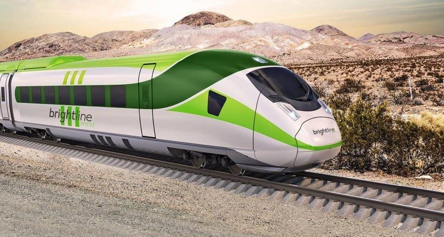 A revised financing plan for Brightline West is expected to put the company's high-speed passenger rail project, between Apple Valley and Las Vegas, back on track.