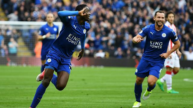 A fine Leicester performance against Stoke secured another vital league win, easing relegation fears and making history for their manager.