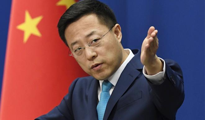 "Chinese foreign ministry spokesman Zhao Lijian said it was ""highly irresponsible"" for people to refer to the pathogen as the ""China coronavirus"" or the ""Wuhan coronavirus"". Photo: Kyodo"