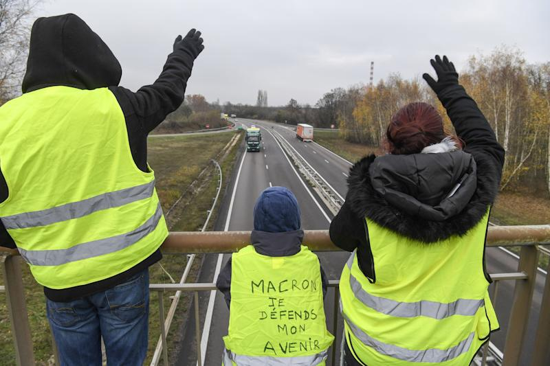 Gilets jaunes (Photo: AFP)