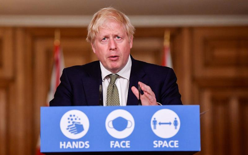 """Prime Minister Boris Johnson. One Conservative source said the distrust between Downing Street and 'red wall' Tory MPs in the North West had become so severe that """"they are looking to Andy Burnham for leadership rather than Boris"""" - Toby Melville/PA"""