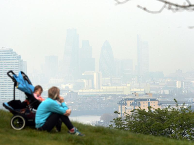 The days of highest air pollution account for hundreds of extra cases each year of ill health in children and adults, the report says: PA