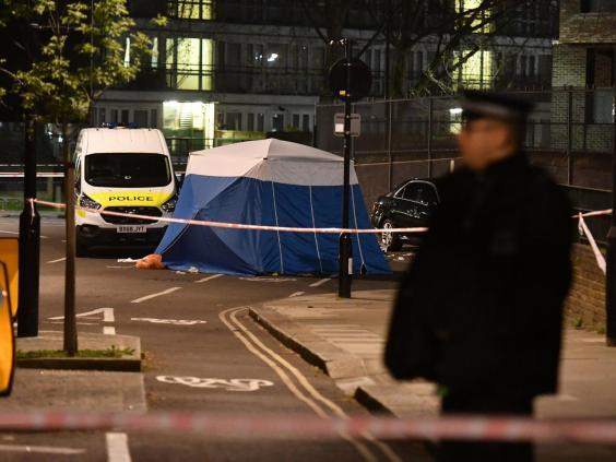 The scene after a stabbing this month in Kentish Town, London (PA)