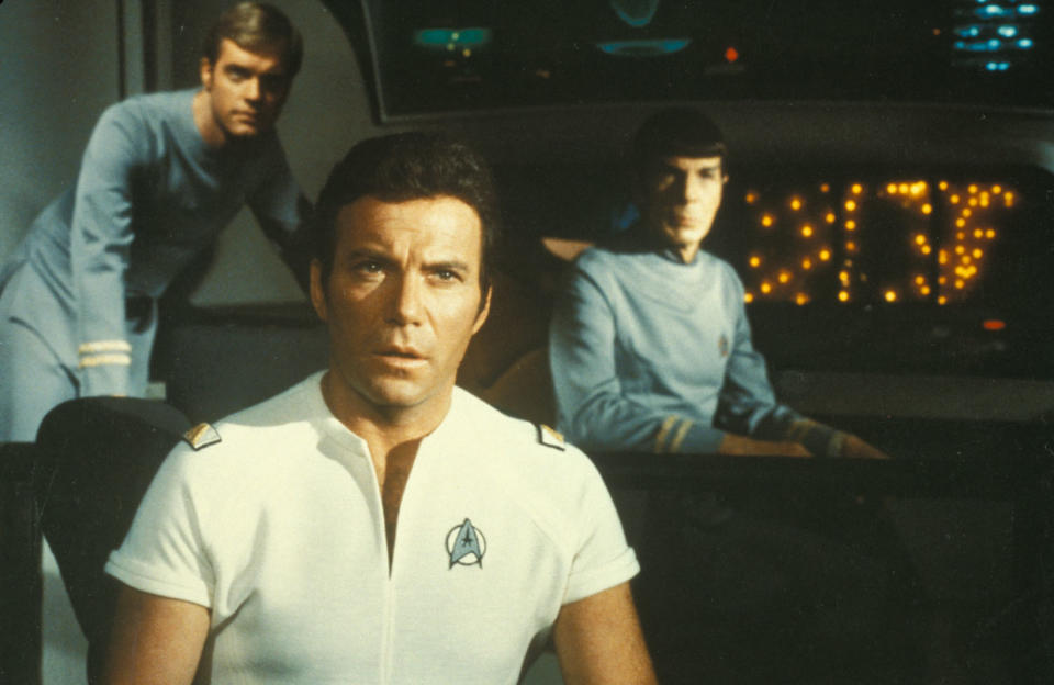 """""""Star Trek: The Motion Picture"""" (1979) William Shatner, Leonard Nimoy and Stephen Collins Photo Credit: Paramount Pictures/Shooting Star *** Please Use Credit from Credit Field ***"""