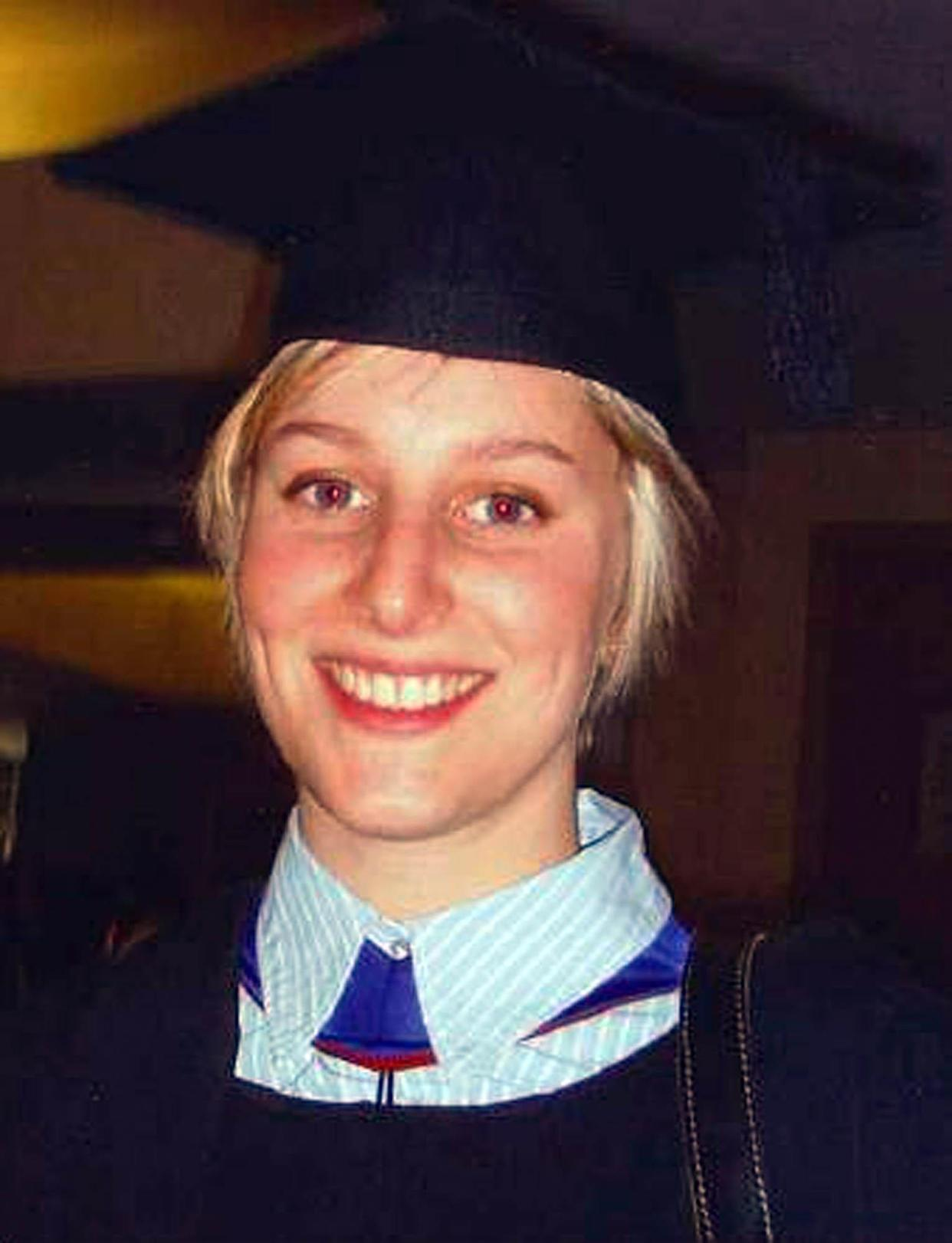 BRISTOL, ENGLAND - NOVEMBER:  A handout photograph provided by Avon and Somerset Police, of Joanna Yeates at her graduation in November 2010 in Bristol, England. The body of 25-year-old landscape architect Joanna Yeates was discovered on Christmas Day after she went missing on December 17, 2010.  (Photo by Avon and Somerset Police via Getty Images)
