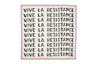 """$55, Clare V. <a href=""""https://www.clarev.com/collections/whats-new/products/bandana-white-w-black-vive-la-resistance"""" rel=""""nofollow noopener"""" target=""""_blank"""" data-ylk=""""slk:Get it now!"""" class=""""link rapid-noclick-resp"""">Get it now!</a>"""