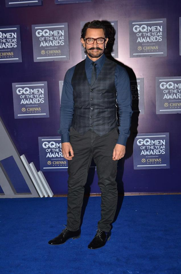 <p>GQ Men of the Year Awards: Aamir, Ranveer, Anushka Turn Heads At The Event </p>