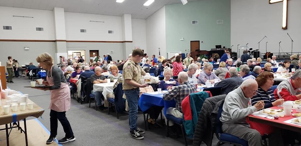 Boy Scouts will hand-deliver this year's meals at (Photo: Church)