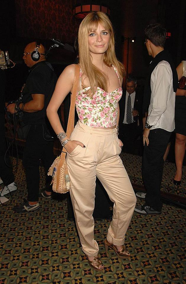 """Mischa Barton's pants manage to be too high and too long at the same time. Theo Wargo/<a href=""""http://www.wireimage.com"""" target=""""new"""">WireImage.com</a> - May 7, 2008"""