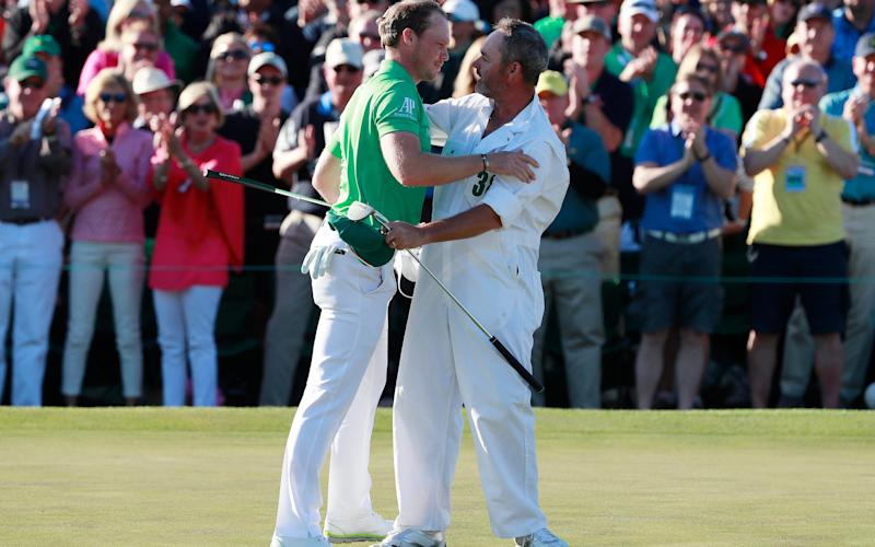 Danny Willett triumphs at Augusta in 2017 - EPA