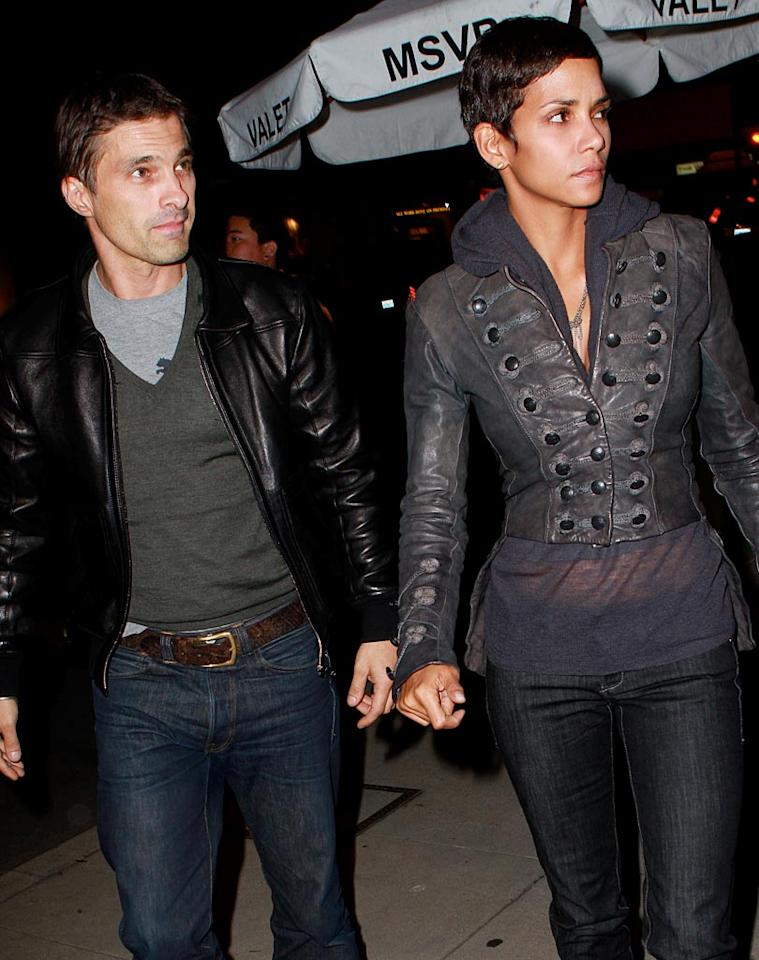 """Things are getting serious between Halle Berry and her new beau Olivier Martinez. People.com reports that the 44-year-old actress took her Frenchman to meet her mom, Judith, before the couple stopped by Marcelita l'Art et le The for an art gallery opening in L.A. Thursday night. Campos-Ivon-Nic/<a href=""""http://www.x17online.com"""" target=""""new"""">X17 Online</a> - October 7, 2010"""