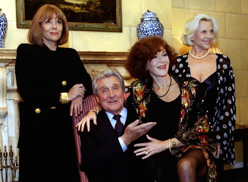 """FILE PHOTO: The cast members of one of Britain's most popular TV series in the 1960s """"The Avengers"""" (L-R) Diana .."""