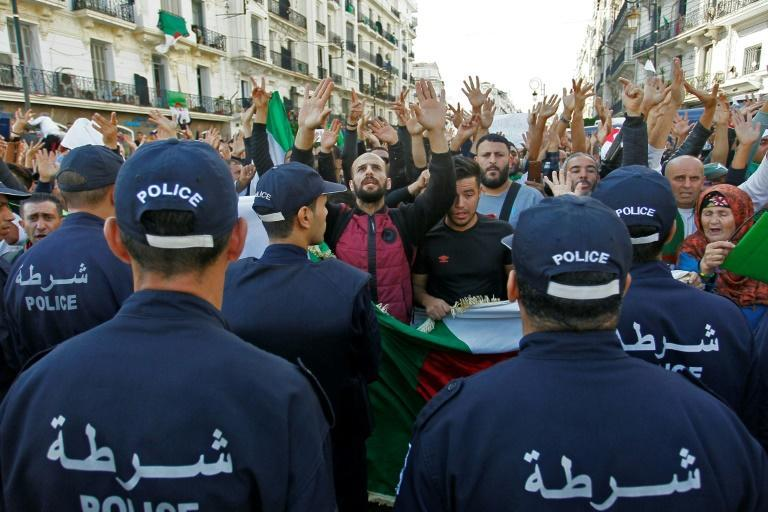 Police were deployed in force, blocking protesters on an avenue near the protest epicentre and making several arrests in the morning, according to witnesses