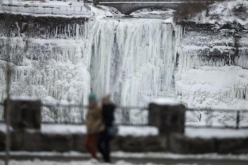 Niagara Falls Is Freezing Over See The Stunning Video That