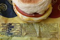 <p>California locations had to start printing the caloric breakdown of all of their menu items on their wrappers in 2009 after Governor Arnold Schwarzenegger signed legislation mandating the information be provided by all chain restaurants in the state. In 2018, this info became a federal requirement for all states. <br></p>