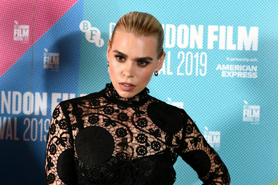 """Billie Piper attends the """"Rare Beasts"""" UK Premiere during the 63rd BFI London Film Festival at The Curzon Mayfair on October 10, 2019 in London, England. (Photo by Jeff Spicer/Getty Images for BFI)"""