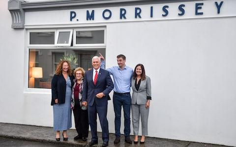 Mr Pence, who was joined on the Ireland trip by his wife, mother and sister, has deep ties directly to Doonbeg, where a distant relation owns a pub - Credit: PA