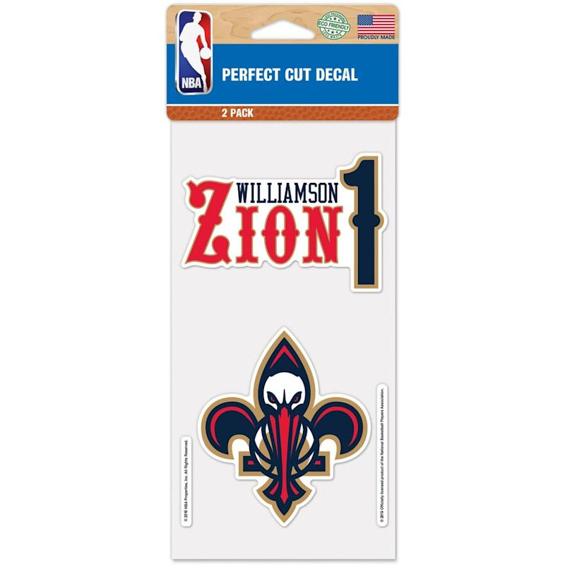Zion Pelicans Player Decals