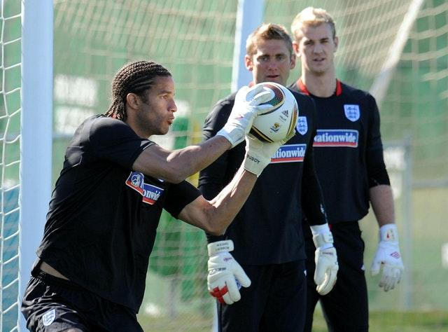 David James, left, welcomed competition for his England spot