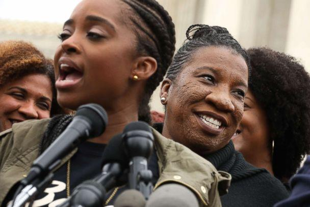PHOTO: 'Me Too' campaign creator Tarana Burke, right, participates in a rally against the confirmation of Supreme Court nominee Judge Brett Kavanaugh in front of the court, Sept. 24, 2018 in Washington. (Chip Somodevilla/Getty Images)