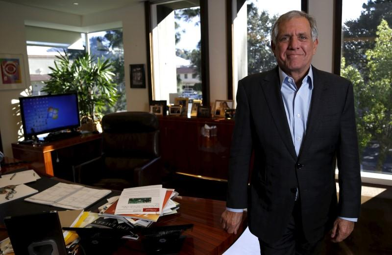Leslie Moonves, President and Chief Executive Officer of CBS Corporation, poses for a portrait in his office in Studio City