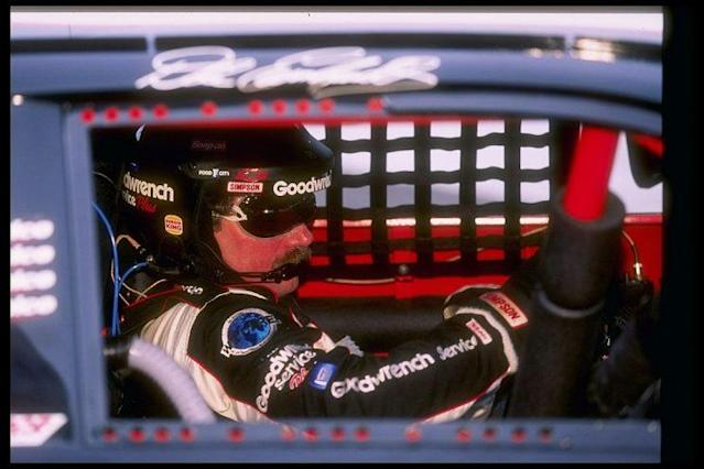 Dale Earnhardt Sr. behind the wheel. (Getty Images)