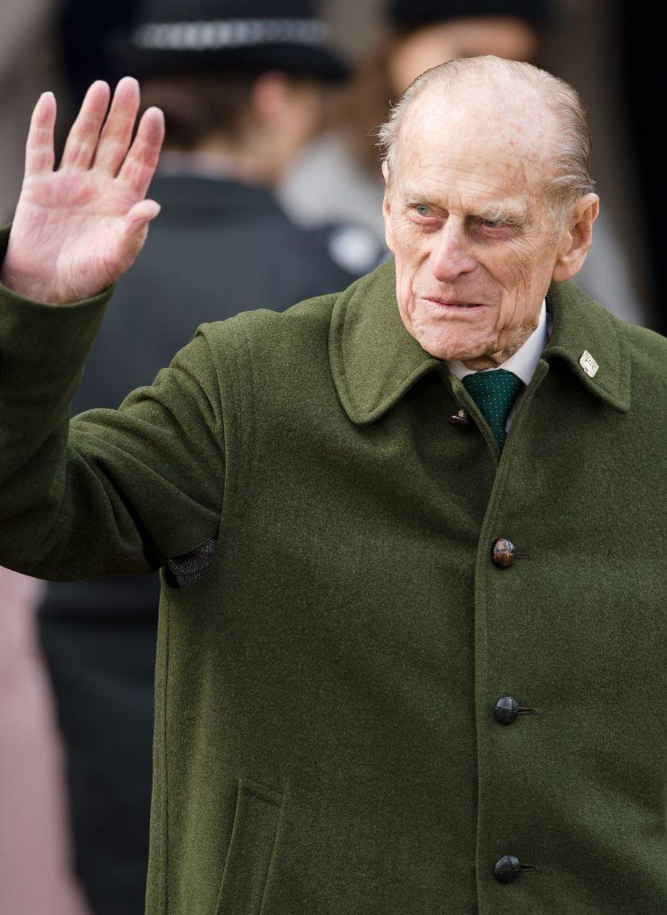 <p>Waving to well-wishers as he leaves the royal family Christmas Day church service at St Mary Magdalene Church in Sandringham, Norfolk.</p>