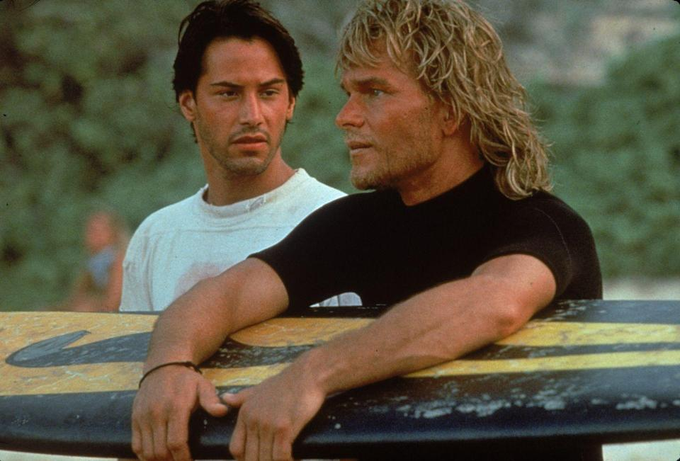 <p>There was nothing hotter in the '90s than a sun-kissed Patrick Swayze. As part of his surfer look in <em>Point Break</em>, the actor rocked fringe bangs and long textured hair. </p>