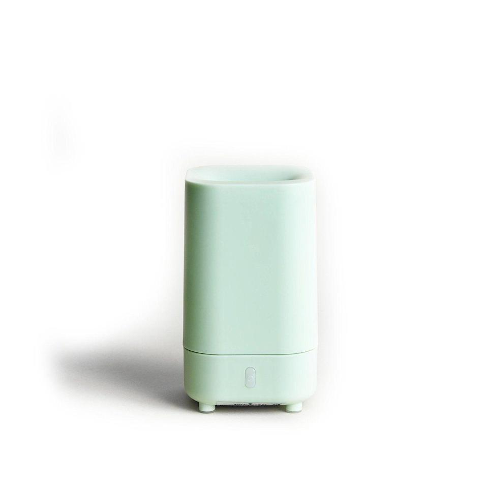 """<p><strong>Serene House</strong></p><p>inscape.life</p><p><strong>$28.00</strong></p><p><a href=""""https://inscape.life/collections/aromatherapy/products/travel-diffuser-white?variant=31673230491748"""" rel=""""nofollow noopener"""" target=""""_blank"""" data-ylk=""""slk:SHOP NOW"""" class=""""link rapid-noclick-resp"""">SHOP NOW</a></p><p>Pack this compact USB-powered model for your next road trip. </p>"""