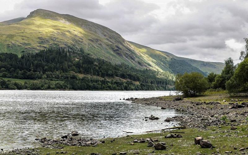 View from the west shore of Lake Thirlmere, where the zip wire would be erected from one side to the other