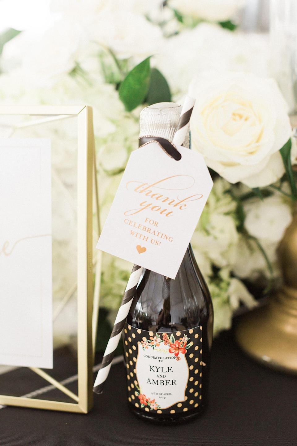 <p>Feeling crafty? Now is your time to make homemade wine labels! You can either draw, paint, or stick on labels to the bottles, or you can just attach a tag with ribbon and a sweet note to the neck of each one.</p>