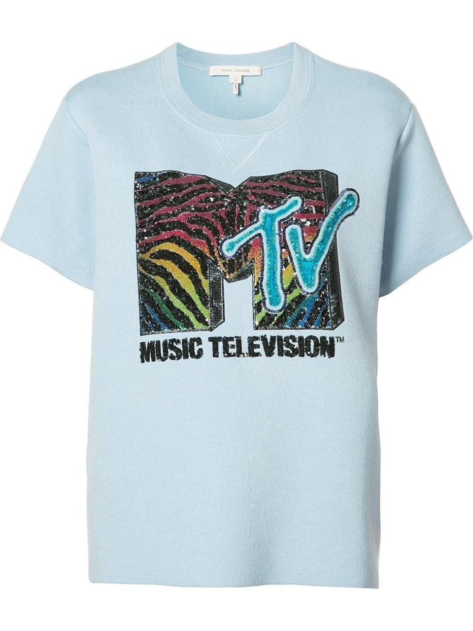 <p><span>Marc Jacobs MTV Branded T-shirt </span> ($1,064, origianlly $1,298)</p>