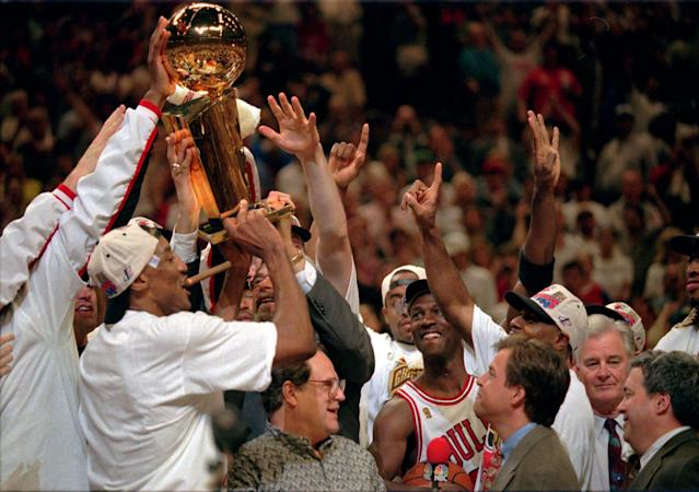 <p>With all due respect to the 2016-17 Warriors, no team has dominated from start to finish quite like the 1995-96 Bulls. A motivated Michael Jordan, in the first full season of his post-baseball comeback, won his eighth scoring title and all three MVP awards (regular season, All-Star Game and Finals). Scottie Pippen joined him on the All-NBA first team and Dennis Rodman, in his first season with the Bulls, led the league in rebounding. Chicago was suffocating on defense and devastating in transition, winning by an average of 12.3 points, 0.7 more than the '17 Warriors. The Bulls also faced a tougher gauntlet in the playoffs, losing only three games in four series, and finished with an overall record of 87-13, still the best in NBA history. </p>