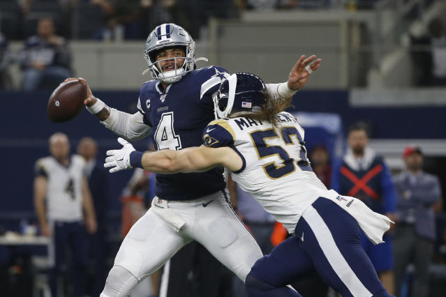 Will Dak Prescott be in the lineup when the Cowboys open up at the Rams? (AP Photo/Ron Jenkins)